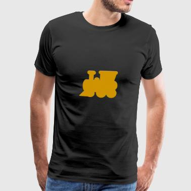 Steam locomotive, locomotive - Men's Premium T-Shirt