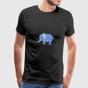Funny cute elephant in comic style - Men's Premium T-Shirt