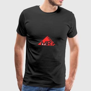 MR-X_PNG_rosso - Premium T-skjorte for menn