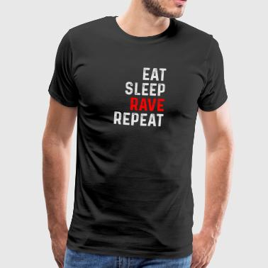 RAVE REPEAT - Mannen Premium T-shirt