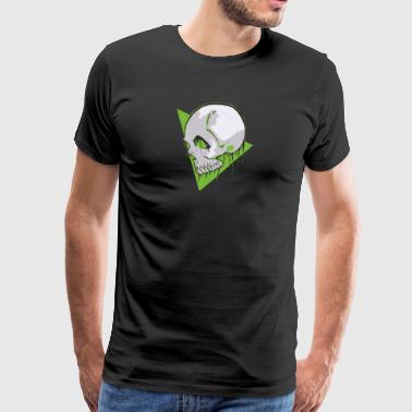 GreenSkull - Premium T-skjorte for menn