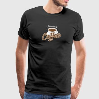 Powered by Coffee - Men's Premium T-Shirt