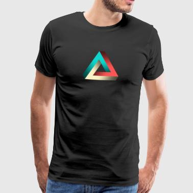 Impossible Penrose Triangle Illusion Design - Men's Premium T-Shirt