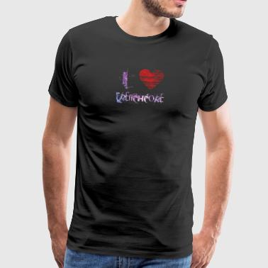I love Frenchcore techno hardraver festival - Men's Premium T-Shirt