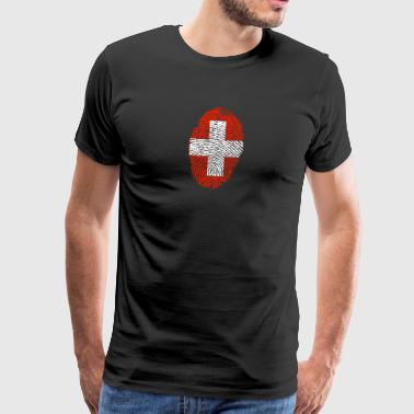 fingerprint i love SCHWEIZ Switzerland - Männer Premium T-Shirt