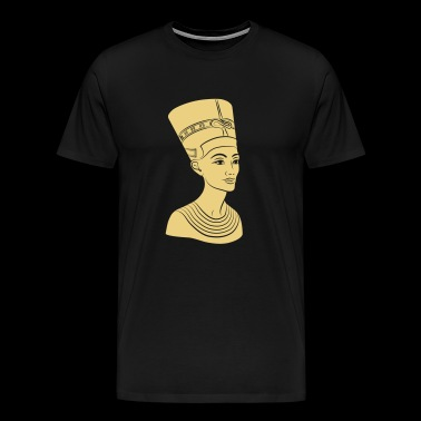 Nefertiti - Queen of Egypt. Also gold print! - Men's Premium T-Shirt
