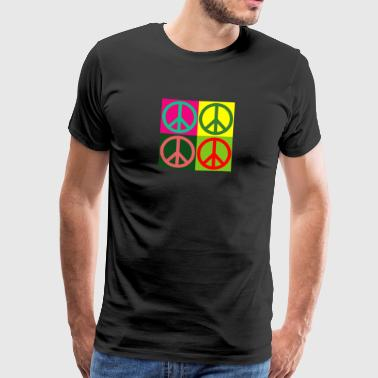 Pop Art / Graphic Novel: signe de paix - Hippies - 60s 70s - T-shirt Premium Homme