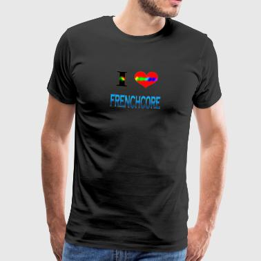 I Love Frenchcore - Men's Premium T-Shirt