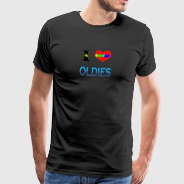 I Love OLDIES - Men's Premium T-Shirt