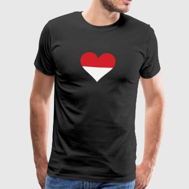 A Heart For Indonesia - Men's Premium T-Shirt
