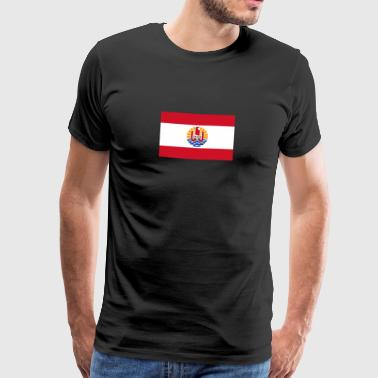 National Flag Of French Polynesia - Herre premium T-shirt