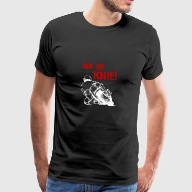 Motorcycle - On the knees Superbike - T-Shirt - Men's Premium T-Shirt