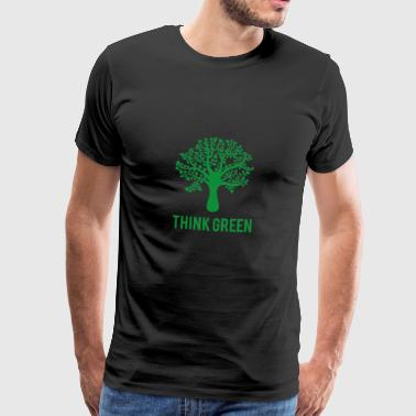 Earth Earth Day / Day: Think Green - Premium-T-shirt herr