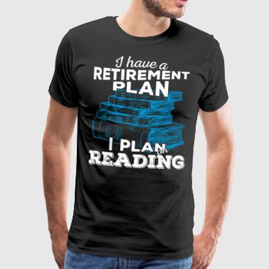 Retirement plan lesing (lys) - Premium T-skjorte for menn