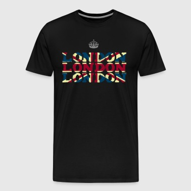 London England Union Jack brexit crown Queen trip - Men's Premium T-Shirt