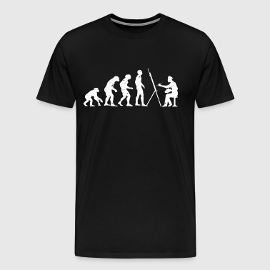 Evolution painter gift - Men's Premium T-Shirt
