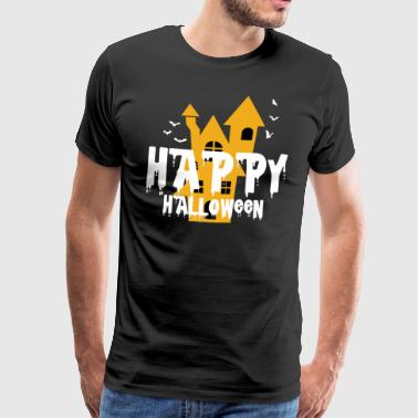 Happy Halloween Haunted Castle Haunted Castle ånd - Herre premium T-shirt