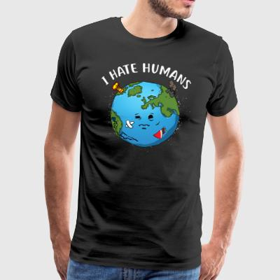 Ik mensen haten / Environmental Protection - Mannen Premium T-shirt