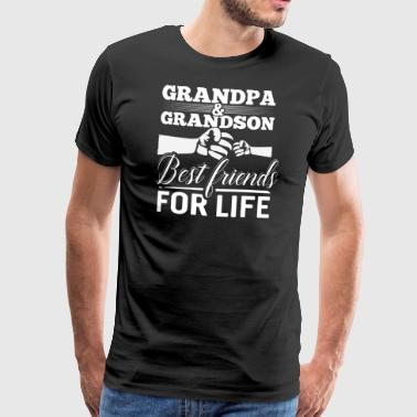 Grandpa and Grandson - Best Friends For Life - Men's Premium T-Shirt
