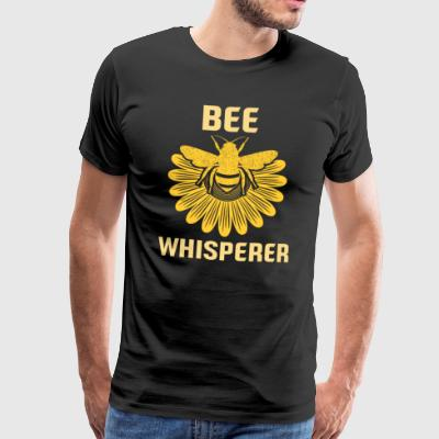 Bee Whisperer Bee Honey birøkter blomster honeycomb - Premium T-skjorte for menn