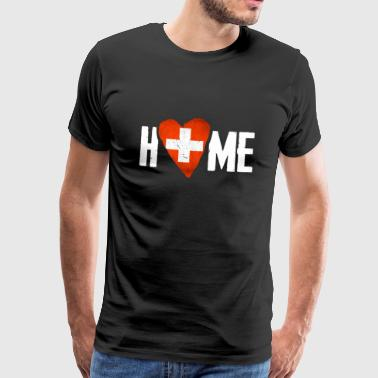 HOME SWITZERLAND Home country Switzerland Home Flag - Men's Premium T-Shirt
