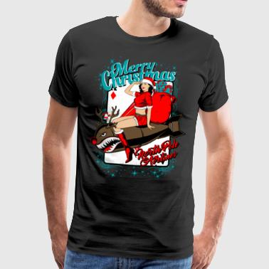 Christmas. North Pole Airlines. - Men's Premium T-Shirt