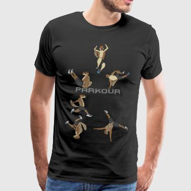 spermophile Barbary Saut Running Free Pacour - T-shirt Premium Homme