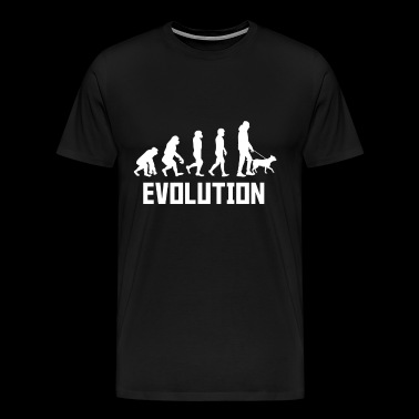 Evolution dog gift dog owner - Men's Premium T-Shirt