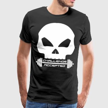 Challenge accepted - for Barbell Lovers - Men's Premium T-Shirt