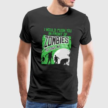 Cat rescue from zombies - Men's Premium T-Shirt