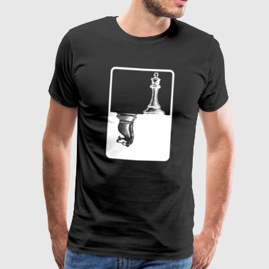 King and Knight - Schach - Männer Premium T-Shirt