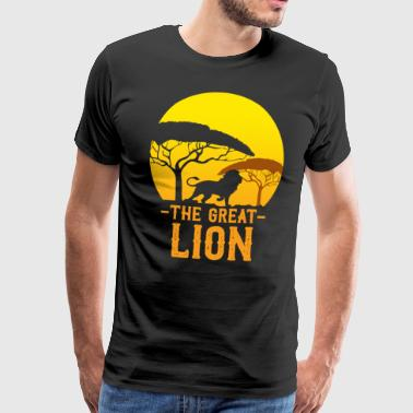 The great lion africa safari cat gift - Men's Premium T-Shirt