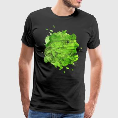 Frog water colors prince frog prince fairy tale - Men's Premium T-Shirt