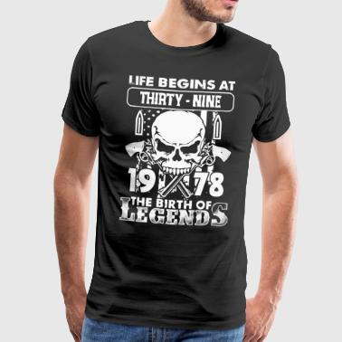 1978 fødselen av Legends shirt - Premium T-skjorte for menn