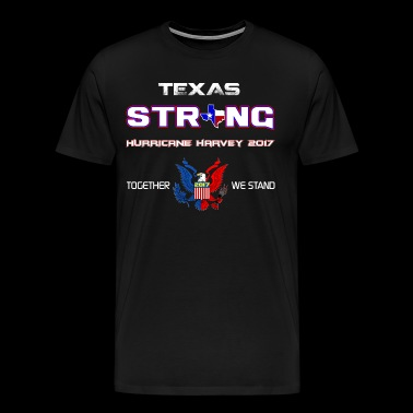 Stærk Texas Harvey 2017 - Herre premium T-shirt