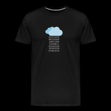 Programmer binary cloud - Men's Premium T-Shirt