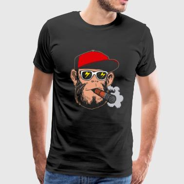 Smoking hipster monkey - gift grass kippers - Men's Premium T-Shirt