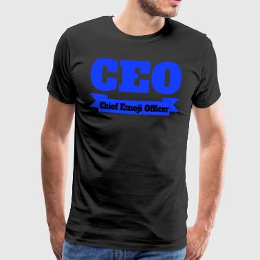 CEO - Chief Emoji Officer - Männer Premium T-Shirt
