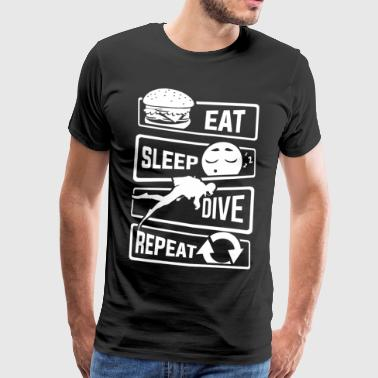Eat Sleep Dive Repeat - Taucher Tauchen Meer See - Männer Premium T-Shirt