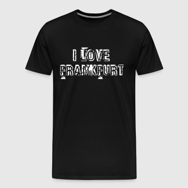 I love Frankfurt white - Men's Premium T-Shirt