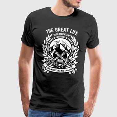 Lumberjack mountains forest ax life freedom hiking - Men's Premium T-Shirt