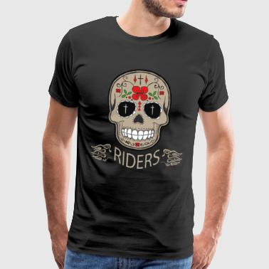 skull riders skull biker motorcycle death gear - Men's Premium T-Shirt