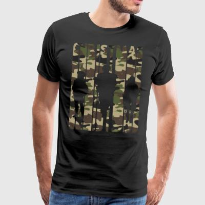 Vintage Christmas Gifts. Camouflage.Army Soldiers. - Men's Premium T-Shirt