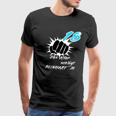 18th birthday the age beats to idea - Men's Premium T-Shirt