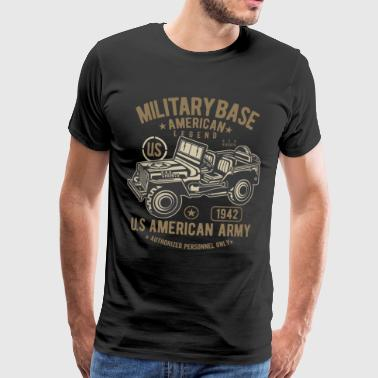 American Army jeep military legend SUV - Men's Premium T-Shirt