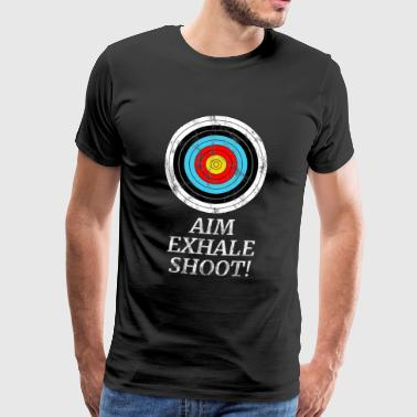 Bågskytte ARROW BOW ARCHER GIFT - Premium-T-shirt herr