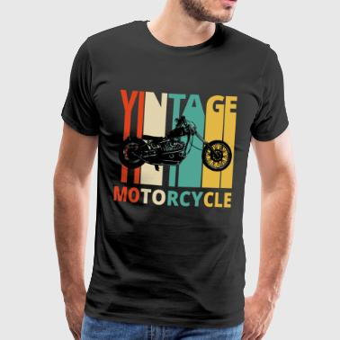 Vintage Motorcycle Gifts for the wild. Dad,grandad - Men's Premium T-Shirt
