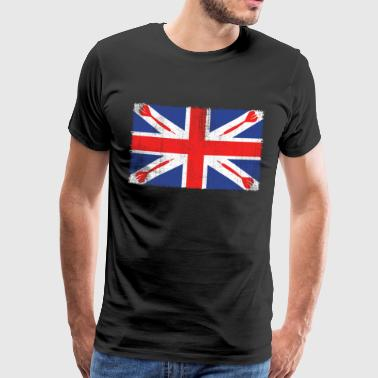 Vintage Flag> UK sjunker Made of Darts - Premium-T-shirt herr