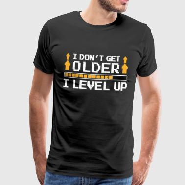 Gaming blir äldre Level Up Nerd Roligt - Premium-T-shirt herr