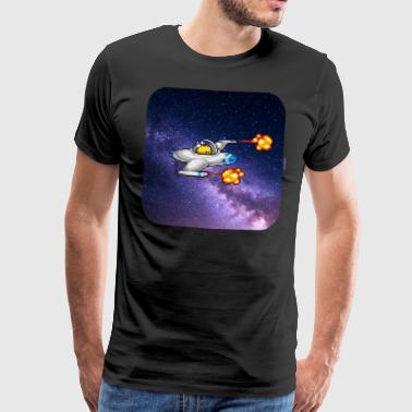 Spaceship - Premium T-skjorte for menn